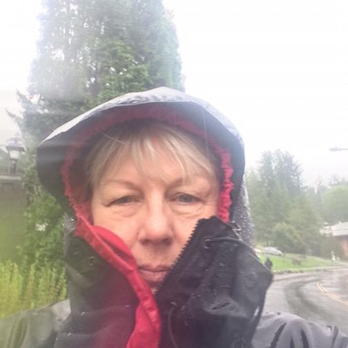 Selfie in rain storm